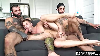 Young Brother Fucked By His Dad and Older Bro - Markus Kage, Benjamin Blue, and Romeo Davis