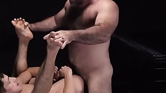 Caged slave boy gets his tight hole packed by bear master daddy-BOYFORSALENOW.COM